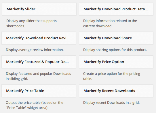 Sell with WP Digital Goods Marketplace | Built-in Marketify Widgets