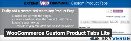 Free WooCommerce Extension Custom Product Tabs Lite