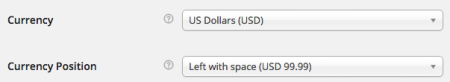WooCommerce currency settings