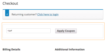 WooCommerce javascript coupon field