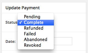 Easy Digital Downloads custom payment status: core statuses