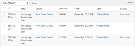 Easy Digital Downloads custom payment status: no status