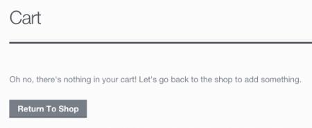 New Cart Text
