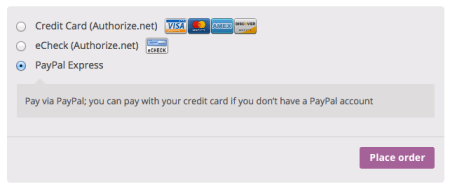 WooCommerce Customer Checkout restricted payments