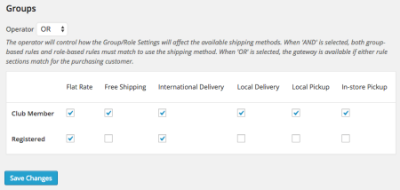 WooCommerce Shipping by Groups