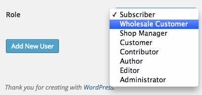 Manually create user