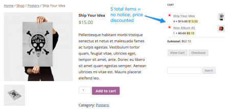 WooCommerce Conditional Content Notice Removed