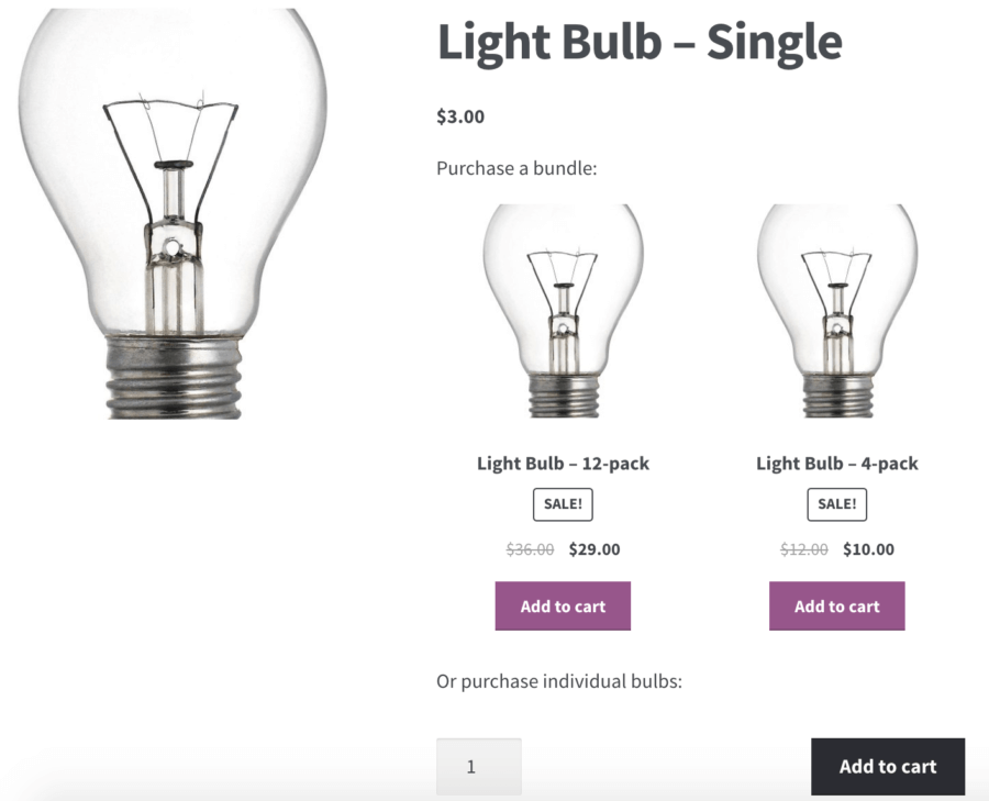 WooCommerce Product Bundles: cross promotion