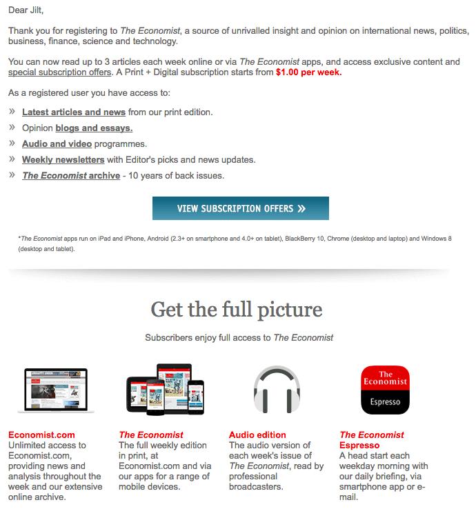 The Economist Welcome