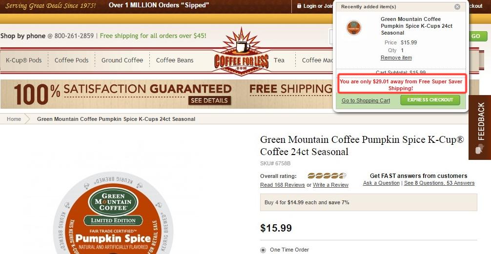 eCommerce upsells