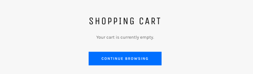 Shopify cart emptied