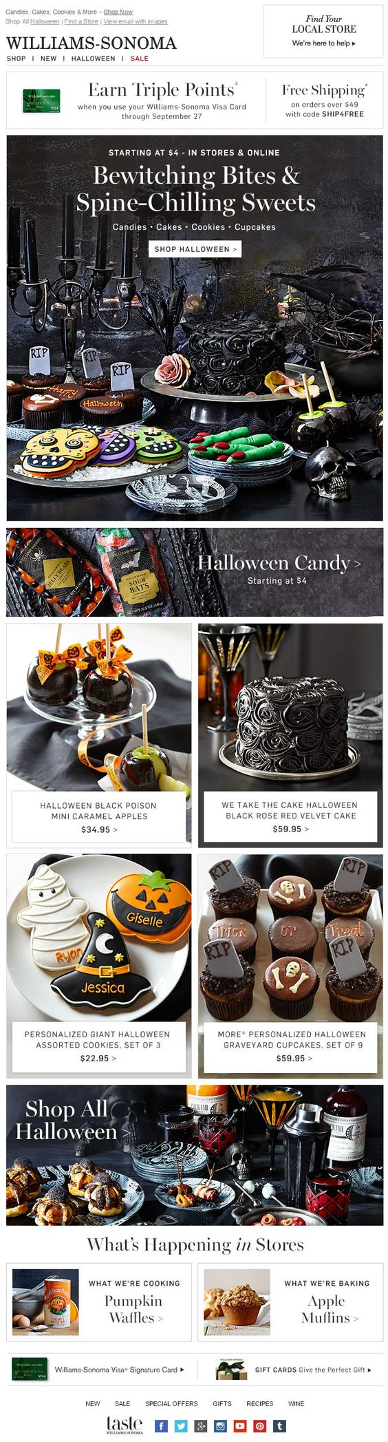 Halloween promotion emails