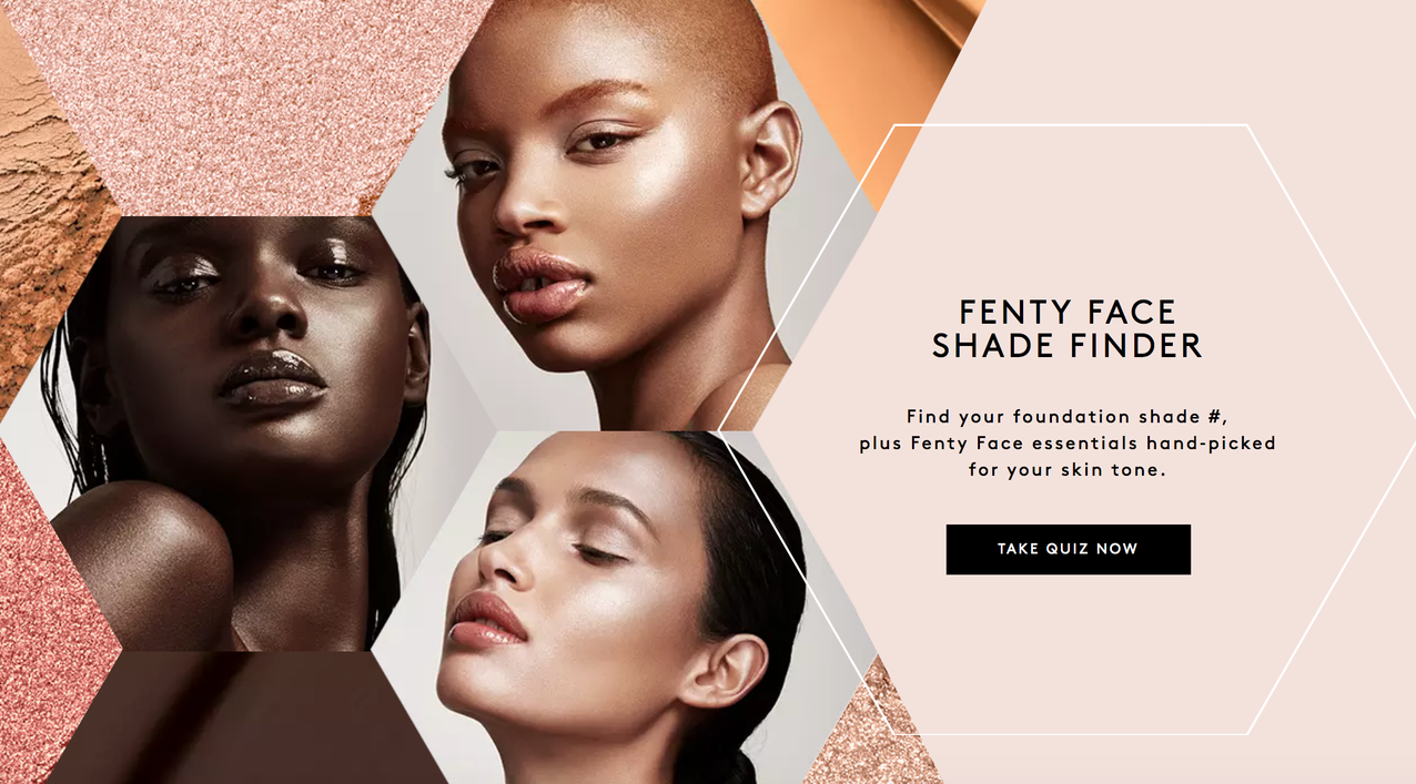 Fenty's shade finder.