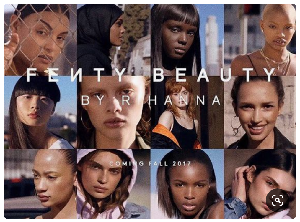 Fenty's initial ad with a diverse group of models.