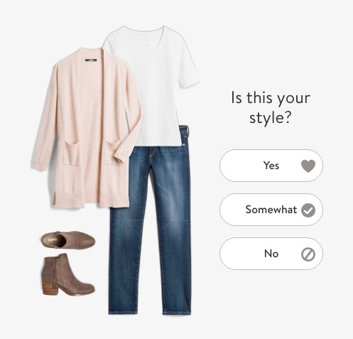 Stitch Fix quizzes new customers to help find their style match.