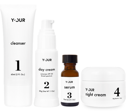 Y'Our Skin's set of four personalized products.