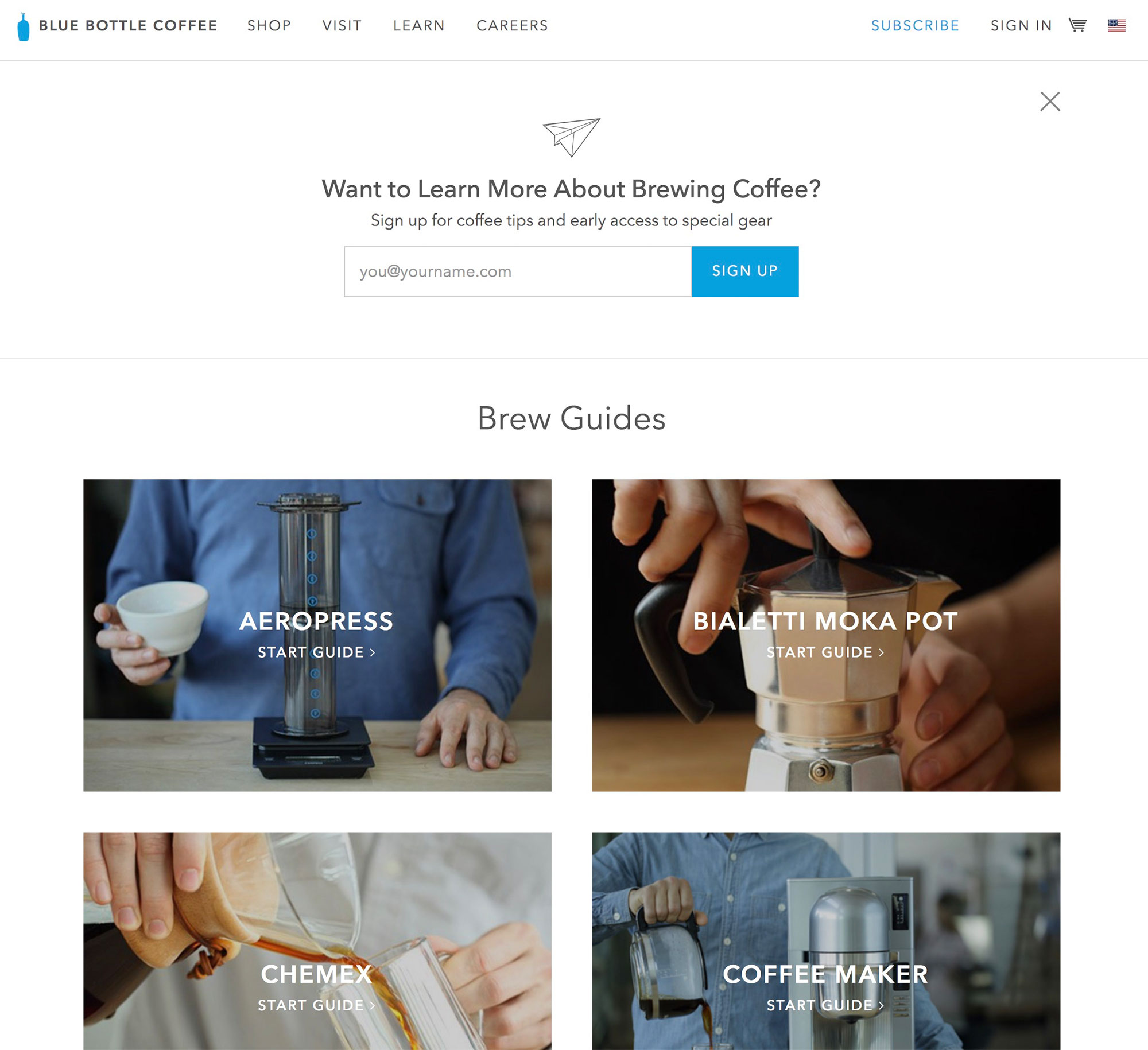 Blue Bottle Coffee's brew guides.