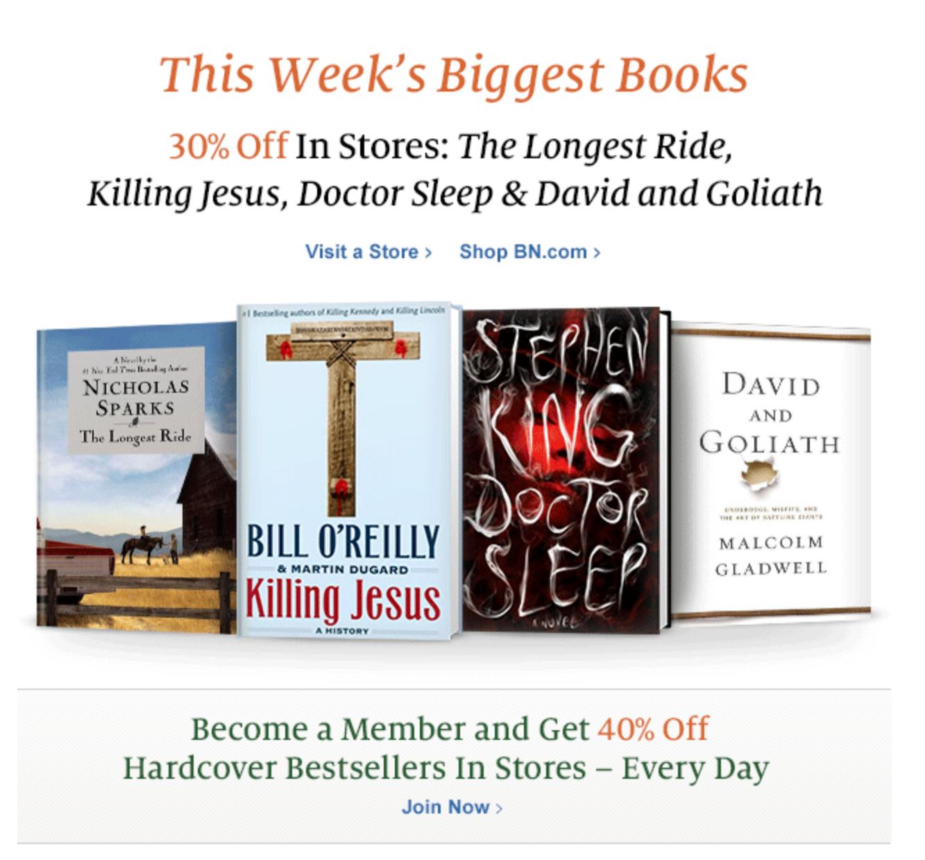 Barnes & Noble's popular books