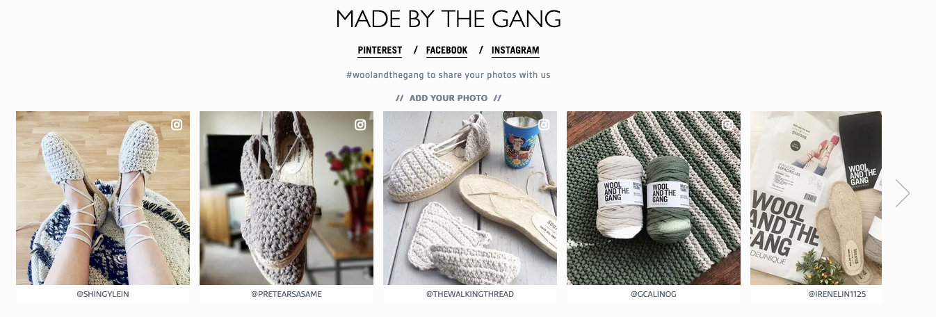 Wool and the Gang uses social proof.