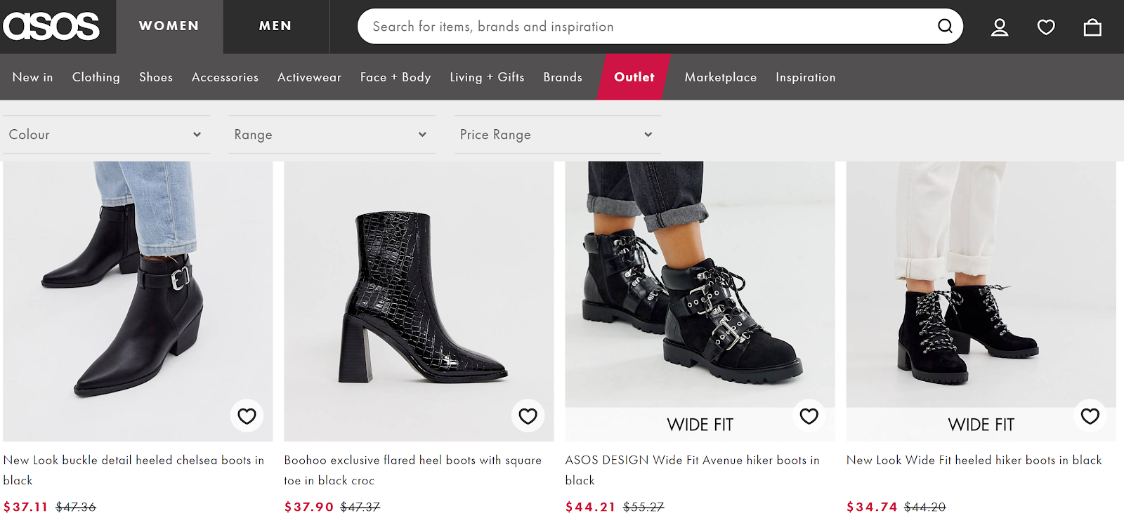 asos uses anchored pricing techniques.