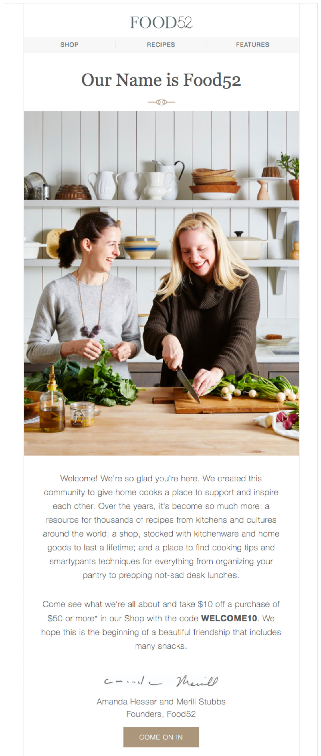 Food52 shows off the people behind the brand.