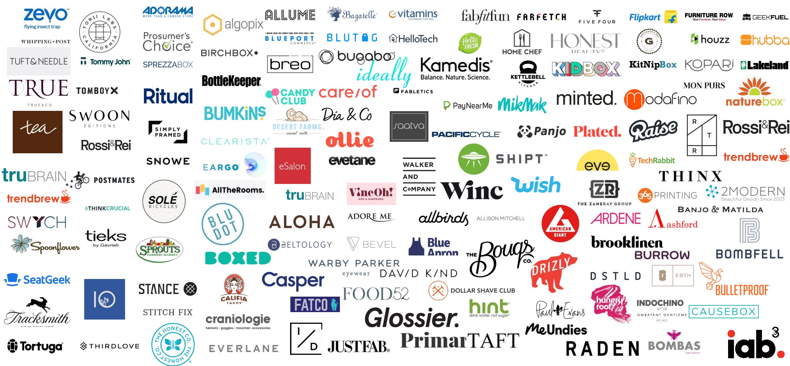 A collage of DTC brands.