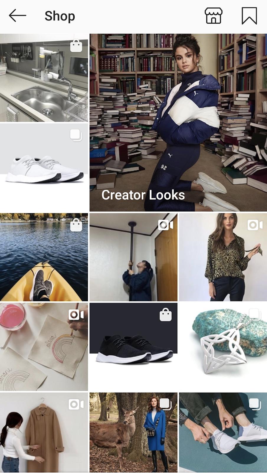 Explore Shop in Instagram.